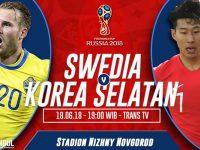 Swedia vs Korea Selatan
