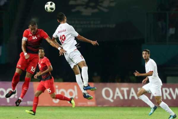 Indonesia saat melawan palestina di Asian Games 2018