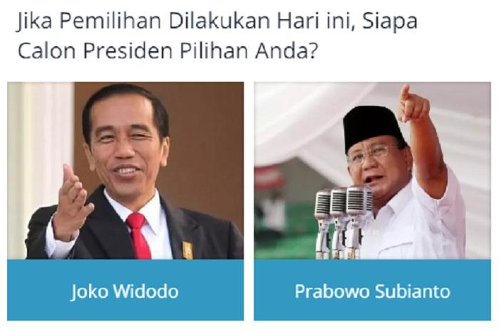Polling Jokowi vs Prabowo