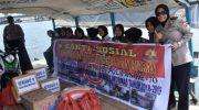 bakti sosial dalam rangka menyambut hari jadi Polwan Indonesia ke 70