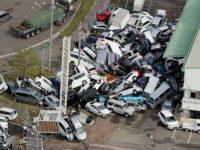 Dahsyatnya Topan Jebi Hantam Jepang