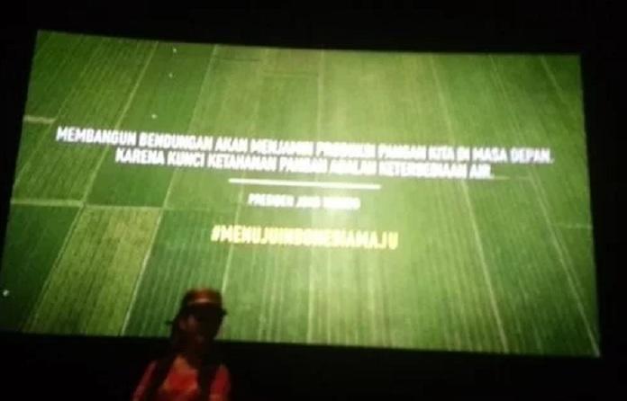 Iklan jokowi di bioskop