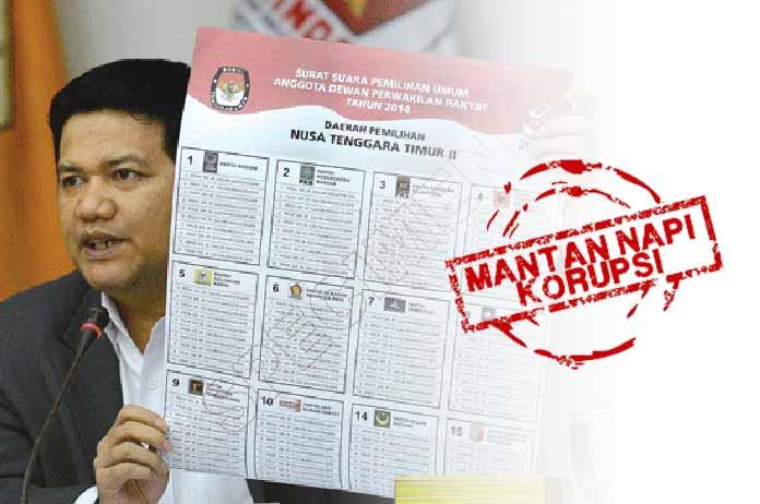 Mantan Napi Korupsi di Surat Suara