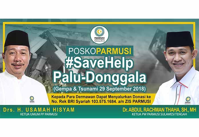 PARMUSI Buka Posko Bantuan Korban Bencana Palu-Donggala