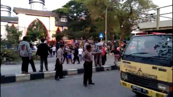 Aksi Kader HMI Unismuh pra kondisi Hari Sumpah Pemuda