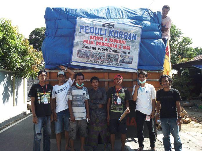 Bantuan Panrita Pinisi dan Savage Work Tiba di Sulteng