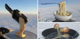 Hasil masakan di Antartika.