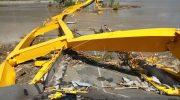 Kondisi Jembatan Kuning Palu Akibat Gempa