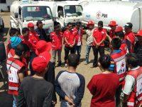 PMI Sulsel Berangkatkan 14 Mobil Tangki Air ke Sulteng