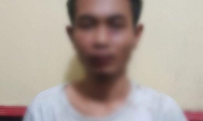 Pelaku Curas terhadap driver grab yang diamankan Polsek Mariso