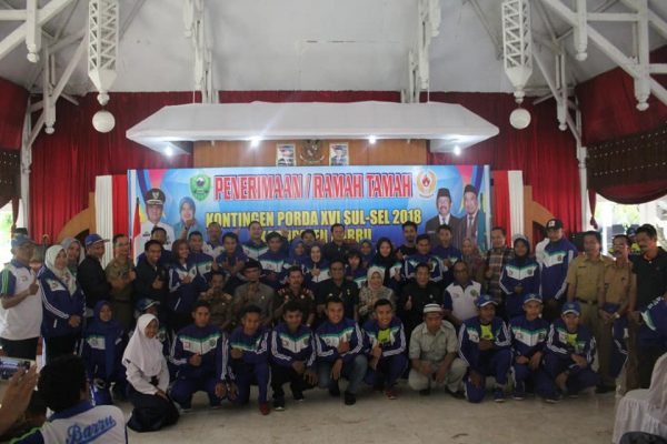 Penerimaan dan Ramah Tamah Atlet Porda Barru bersama Pemkab Barru