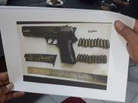 Gambar pistol yang dipakai untuk membunuh tukang gigi di Sampang