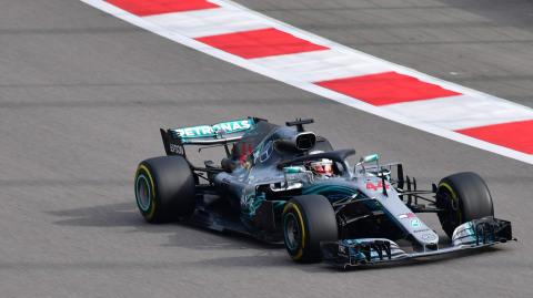 Hamilton di GP Rusia 2018. (Foto:Andrej ISAKOVIC / AFP)