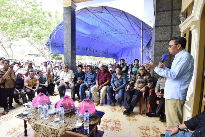 Nurdin Abdullah melakukan kunjungan kerja ke Kabupaten Jeneponto, Kamis (1/11/2018).