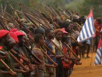 Tentara Pertahanan Nasional Organisasi Papua Merdeka (OPM) Devisi II Makodam Pemkab IV Paniai. TEMPO/Jerry Omona