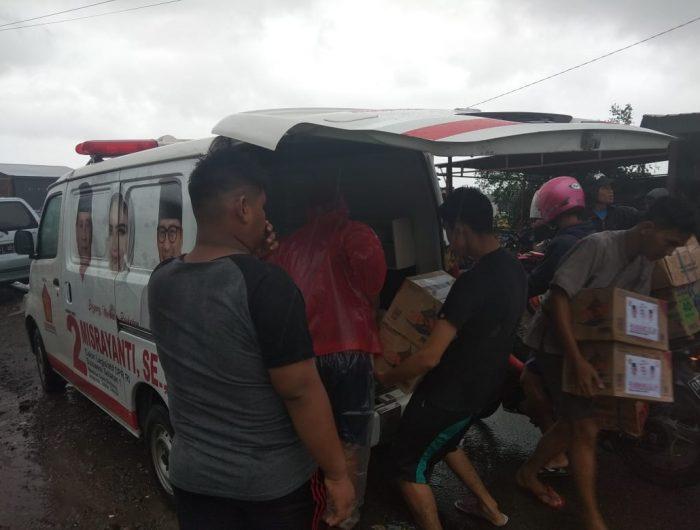 Bantu Korban Banjir di Gowa, Wasekjen Gerindra Terjunkan Tim dan Logistik Bantuan