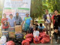 Relawan pemuda kayuloe banjir jeneponto