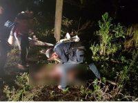 Evakuasi korban pembunuhan di Kelurahan Berok, Kecamatan Koba, Kabupaten Bangka Tengah. - IST/Reskrim Bateng