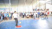 Bupati Barru di acara pembukaan turnamen sepak takraw memperingati HUT ke-59 Kabupaten Barru, Jumat (15/2/2019).