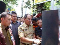 Launching Penerapan 25 Unit Terminal Parkir Elektronik di Jl. RA Kartini, Senin (11/3).
