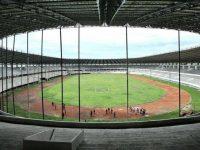 Pembangunan Stadion Barombong Makassar.