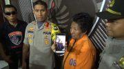 Dwi Retno ditahan di Polres Lumajang.