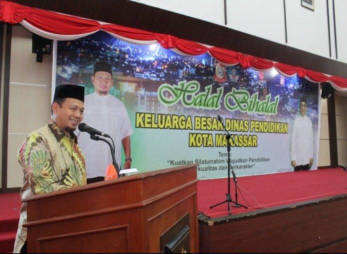 halalbihalal Dinas Pendidikan Kota Makassar, di Ruang Pola Kantor Gubernur Sulsel, Sabtu (15/6/19).