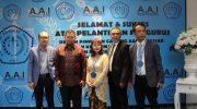 pelantikan pengurus Dewan Pimpinan Cabang Asosiasi Advokat Indonesia (AAI) Makassar di Hotel Novotel Makassar, Sabtu (15/6/19).