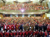 3.916 mahasiswa peserta KKN Unhas. Pelepasan ini berlangsung di Baruga AP Pettarani Unhas, Jl Perintis Kemerdekaan, Makassar, Sulawesi Selatan, Senin (24/6/2019)