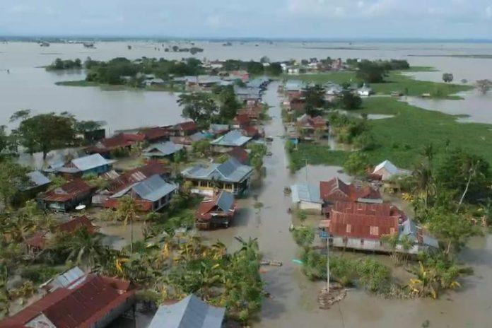Banjir Sidrap. (Foto: Kompas.com)