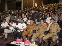 Sekda Kabupaten Barru H. Nasruddin AM menghadiri acara pelepasan mahasiswa Kuliah Kerja Nyata (KKN) Unhas.