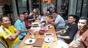 Suasana rapat Pengurus Wushu Sulsel jelang babak kualifikasi PON yang digelar di Bangka Belitung.