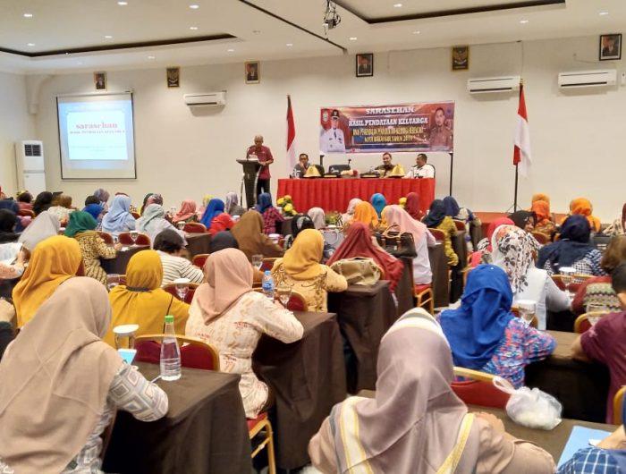 Dinas Pengendalian Penduduk dan Keluarga Berencana (PPKB) Kota Makassar menggelar Sarasehan Hasil Pendataan Keluarga, Kamis, (13/6/2019).