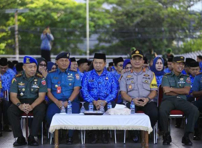 Upacara Hari Kedisiplinan Nasional Tingkat Forkopimda Kota Makassar kembali digelar tepat di hari Senin, 17 Juni 2019