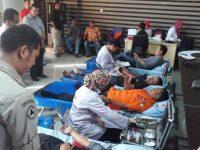 BPBD Kota Makassar menyelenggarakan kegiatan donor darah di Ruang Rapat Kantor BPBD, Jalan Kerung-Kerung (Eks THR Makassar), Jumat (21/06).