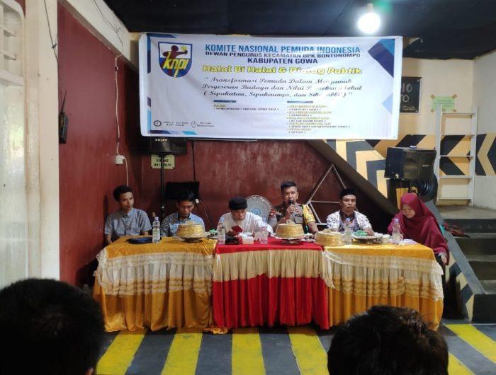 Dewan Pengurus Kecamatan (DPK) KNPI Bontonompo Kabupaten Gowa menggelar Halal Bihalal dan Diskusi Publik