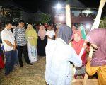 acara Mappadendang di Dusun Pacciro Desa Libureng Kecamatan Tanete Riaja, Sabtu (22/6/2019).