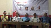 "Diskusi Publik yang bertajuk ""Hak Angket DPRD Provinsi; Serius atau Basa-Basi?"" di Kopi zone, Jl. Boulevard, Makassar, Kamis (27/6/2019)."