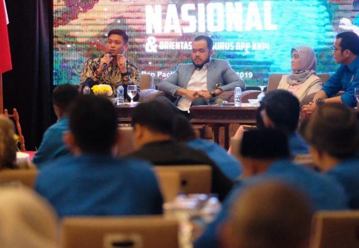"""Bupati Gowa, saat Menjadi Narasumber Sharing Session """"Kepemimpinan Millenial dalam Memajukan Daerah"""" pada Rapat Kerja Nasional (Rakernas) DPP KNPI 2018-2021 di Hotel Sari Pan Pacific, Jakarta, Sabtu, 29 Juni 2019"""