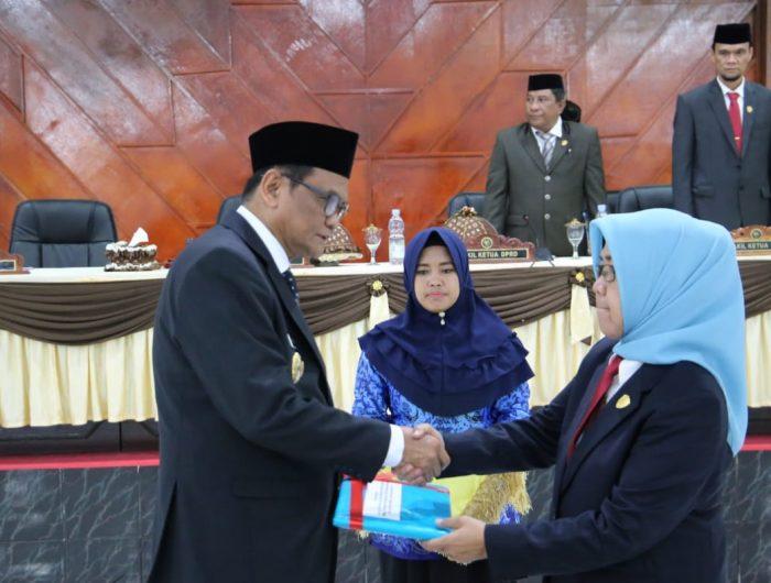Rapat Paripurna Istimewa DPRD Barru dalam rangka Penyampaian Catatan Strategis dan Rekomendasi Terhadap Laporan Pertanggungjawaban (LKPJ) Bupati Barru