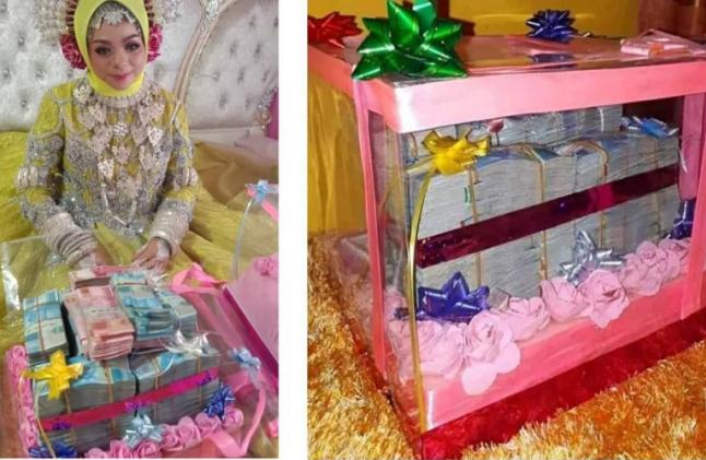 Gadis di Kabupaten Jeneponto dilamar dengan uang panaik Rp500 Juta (setengah milyar), beras satu ton, satu petak sawah, satu ekor kuda, dan satu stell emas, Sabtu (22/6/2019) (Foto: @Makassar_iinfo)