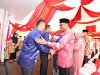 """Di hari kedua dalam momentum Lebaran, """"Open House"""" yang digelar Gubernur Sulawesi Selatan di Jalan Sungai Tangka Makassar dihadiri 24 kepala daerah se Sulsel, Kamis (6/6/2019)."""