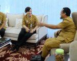 Kepala BPJS Kesehatan Makassar Dr Esty menemui Wakil Gubernur Andi Sudirman Sulaiman.