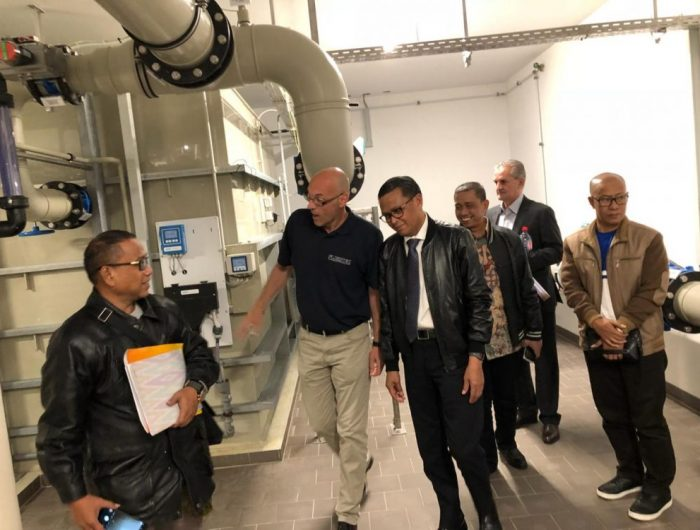 Gubernur sulsel mengunjungi tempat Technology Water Treatment (teknologi pengolahan air) di Jerman. (Foto: Ist)