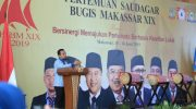 Pertemuan Saudagar Bugis Makassar (PSBM) ke XIX di Center Point Of Indonesia Makassar, Minggu (16/6/2019).
