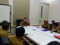 Sekretaris Daerah Provinsi Sulsel, Abdul Hayat Gani, rapat bersama Inspektorat dan Biro Aset.