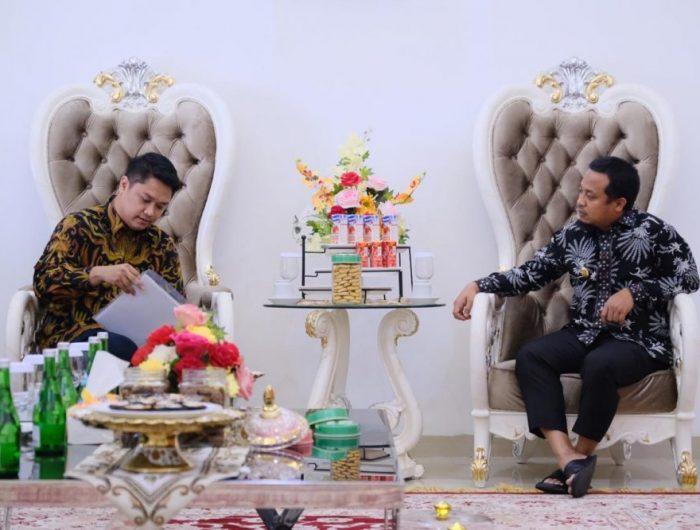 Akmal Chaer, mewakili Panen Mart menemui Wakil Gubernur Sulsel Andi Sudirman Sulaiman, di Rumah Jabatan Wakil Gubernur, Kamis (27/6/2019).