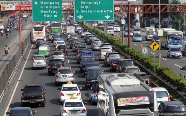 Ilustrasi Kondisi Jalan Raya di Kota Jakarta