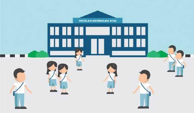 Ilustrasi Sekolah SMA.