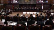 sidang Perselisihan Hasil Pemilihan Umum (PHPU) presiden dan wakil presiden di Gedung Mahkamah Konstitusi, Jakarta, Rabu (19/6/2019).